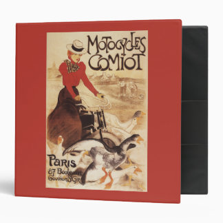 Comiot Motocycles Woman and Geese Promo Poster Binder