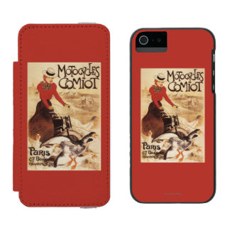 Comiot Motocycles Woman and Geese Promo Poster Wallet Case For iPhone SE/5/5s