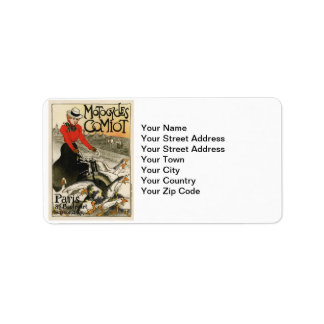 Comiot Motorcycles Address Label