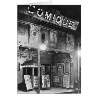 Comique Theatre Greeting Card
