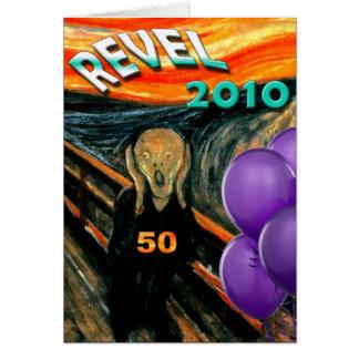 Comis Scream 50th Birthday Card