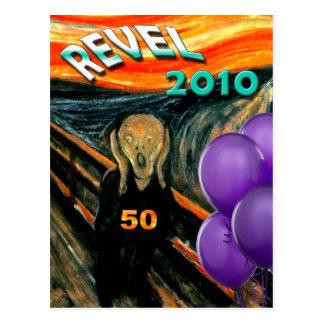Comis Scream 50th Birthday Postcard