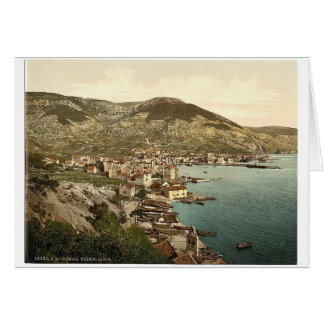 Comisa, cerca de Lissa, clase de Dalmacia, Austro- Tarjetón