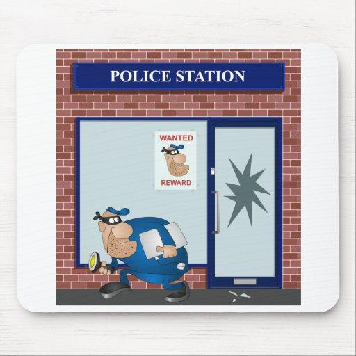 Comisaría de policías tapetes de ratones