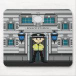 Comisaría Mousepad del policía y de policías Alfombrilla De Ratones