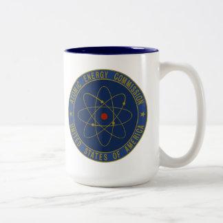 Comisión de energía atómica tazas de café