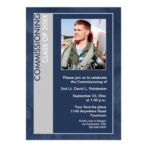 Comisión la clase de invitación de la foto (azul)