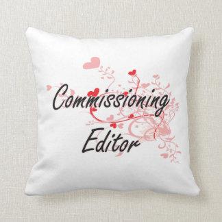 Comisión sistema de trabajo artístico del redactor cojin