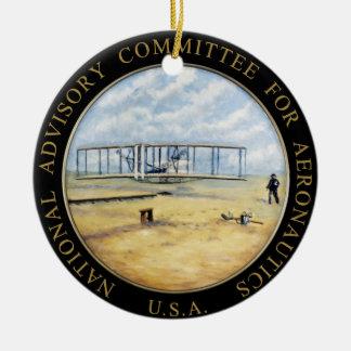 Comité consultivo nacional para el logotipo de la adorno navideño redondo de cerámica