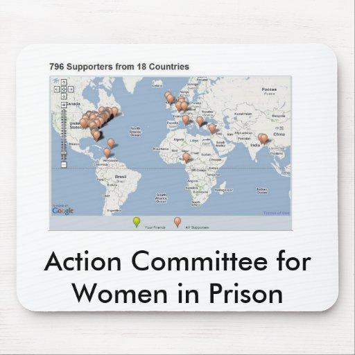 comité de acción del partidario para las mujeres e alfombrilla de ratones