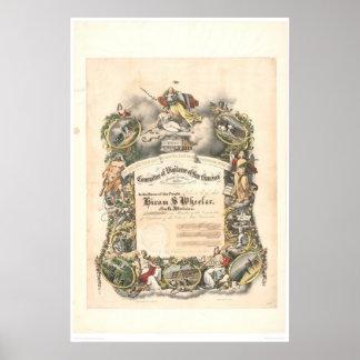 Comité de la vigilancia de San Francisco 1825A Poster