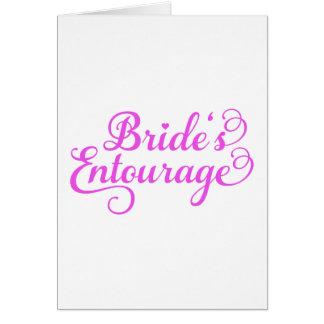 Comitiva de las novias, arte rosado de la palabra, tarjeta de felicitación