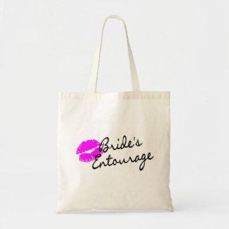 Comitiva de las novias (beso) bolsa tela barata