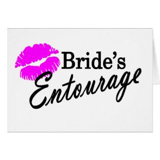 Comitiva de las novias tarjeta de felicitación