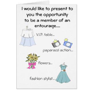 comitiva de las novias tarjeta pequeña