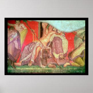 Comitiva Dionysian con Dionysus Poster