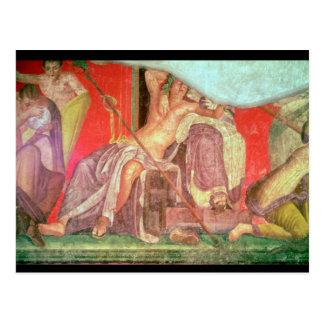 Comitiva Dionysian con Dionysus Postal