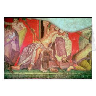 Comitiva Dionysian con Dionysus Tarjeta De Felicitación