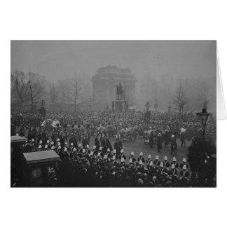 Comitiva fúnebre de la reina Victoria Tarjeta De Felicitación