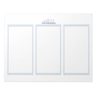 Comix the Board Game 3 Panel Plain Paper Notebook Note Pad