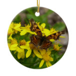 Comma Butterfly in Glacier National Park Ceramic Ornament