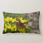 Comma Butterfly in Glacier National Park Lumbar Pillow