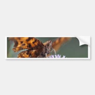 Comma Butterfly, Polygonia c-album Car Bumper Sticker
