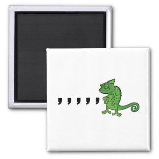 Comma Chameleon 2 Inch Square Magnet