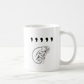 Comma Chameleon Coffee Mugs