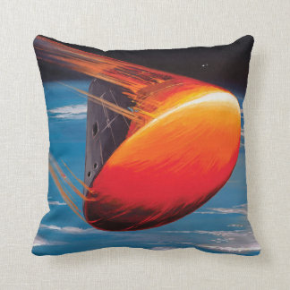 Command Module Re-entry Throw Pillow