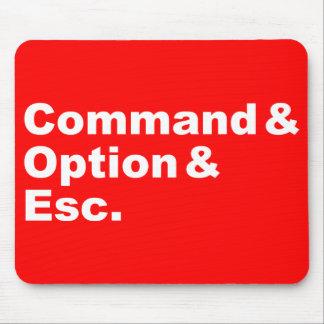Command & Option & Esc Mousepad