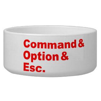 Command & Option & Esc Pet Bowl