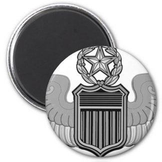 COMMAND PILOT WINGS 2 INCH ROUND MAGNET