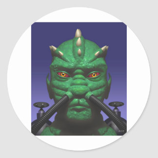 Commander D'Arton Classic Round Sticker