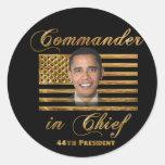 Commander in Chief, Barack Obama Classic Round Sticker