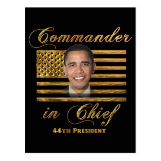 Commander in Chief, Barack Obama Postcard