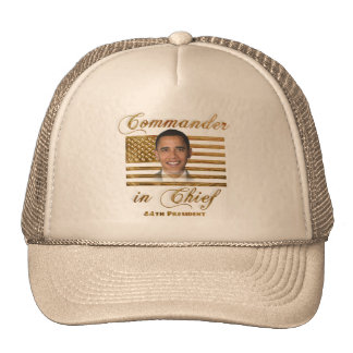 Commander in Chief, Barack Obama Trucker Hat