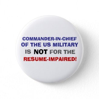 COMMANDER-IN-CHIEF IS NOT FOR THE RESUME IMPAIRED button