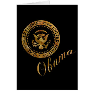 Commander in Chief, President Barack Obama Card