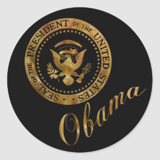 Commander in Chief, President Barack Obama Classic Round Sticker