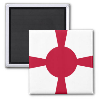 Commander Of Imperial Japanese Navy, Japan flag 2 Inch Square Magnet