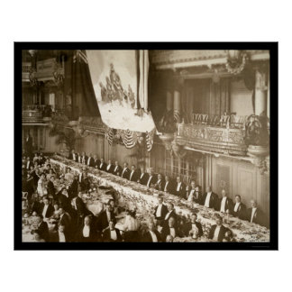 Commander Peary Dinner Photo 1910 Poster