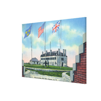 Commanding Officer Room in Old French Castle Canvas Print
