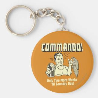 Commando: 2 Weeks Till Laundry Day Keychain