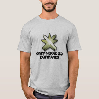 commando, Only Noobs Go Commando T-Shirt