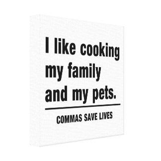 Commas Save Lives Canvas Print