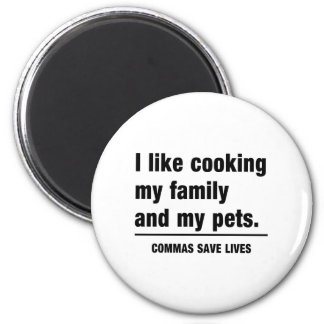 Commas Save Lives Magnet