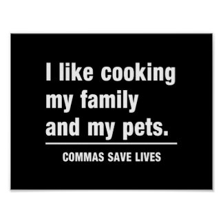Commas Save Lives Poster