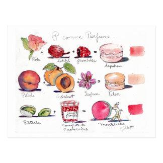 Comme Parfum Macaron de P Tarjetas Postales