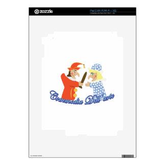 Commedia Dellarte iPad 2 Decals